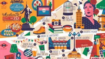 Daniel Diosdado es el ilustrador de esta guía editada por la empresa municipal Madrid Destino en castellano y en inglés