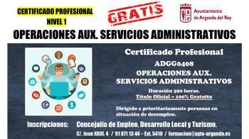 El Ayuntamiento ha puesto en marcha los `Certificados de Profesionalidad´ orientados a personas desempleadas