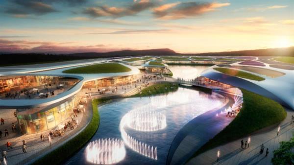 Un gran lago central y hasta una playa te esperan en este nuevo resort comercial