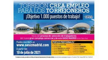 El objetivo es impulsar la creación de 1.000 puestos de trabajo para los torrejoneros en el complejo comercial y de ocio