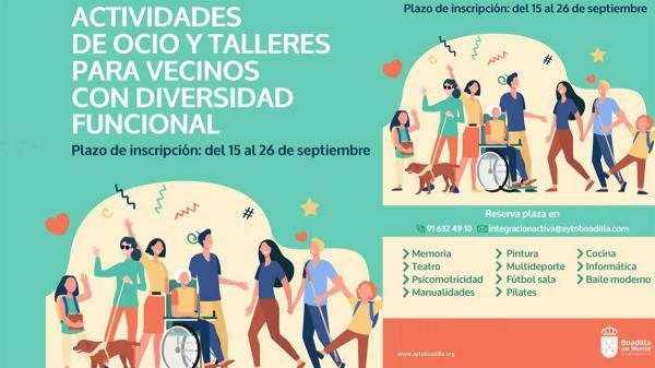 Matriculación en actividades para personas con diversidad funcional curso 2021/2022