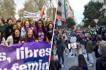 Cientos de personas se manifestaron en el barrio madrileño contra la gestión del Gobierno