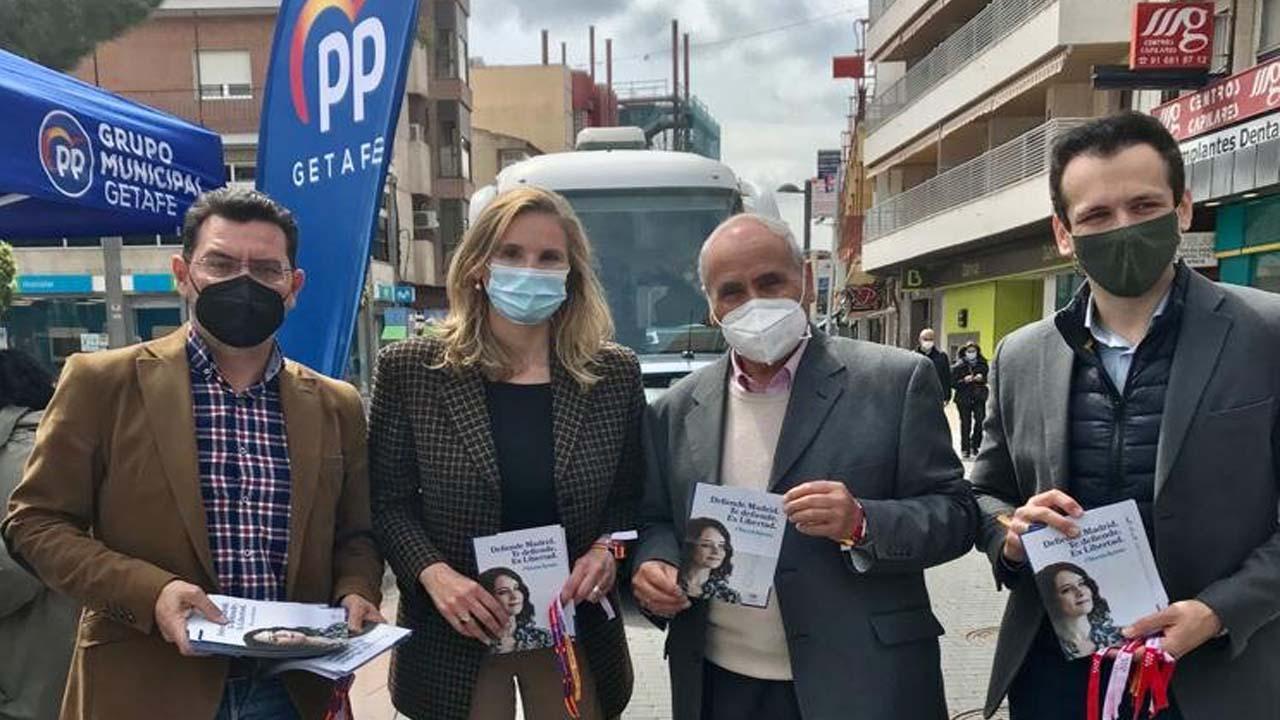 La responsable de Acción Sectorial de campaña del PP visita Getafe