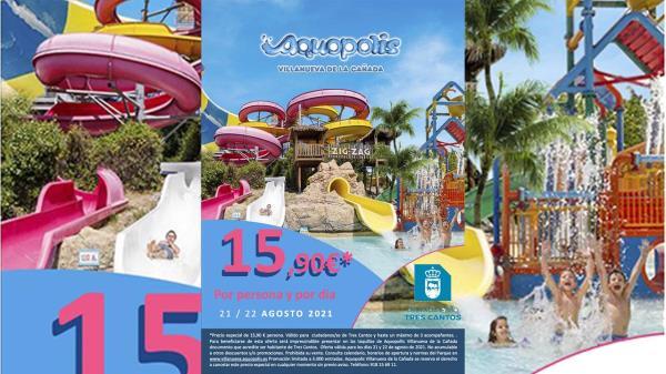 Gracias al acuerdo del Ayuntamiento de Tres Cantos con el Parque Warner, el Aquópolis y el Parque de Atracciones
