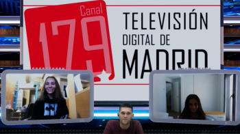 Las patinadoras roceñas repasan en TV de Madrid sus éxitos más recientes