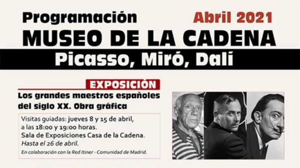 Picasso, Miró y Dalí: protagonistas del mes de abril en Pinto