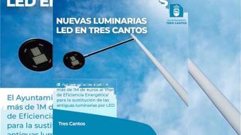 Para la sustitución de las antiguas luminarias por LED