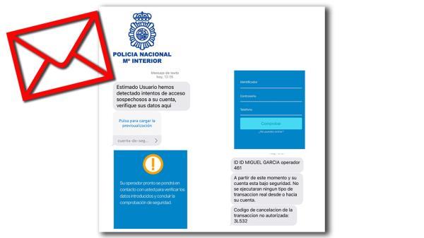 La Policía Nacional alerta de una nueva estafa a través de mensajes y llamadas telefónicas