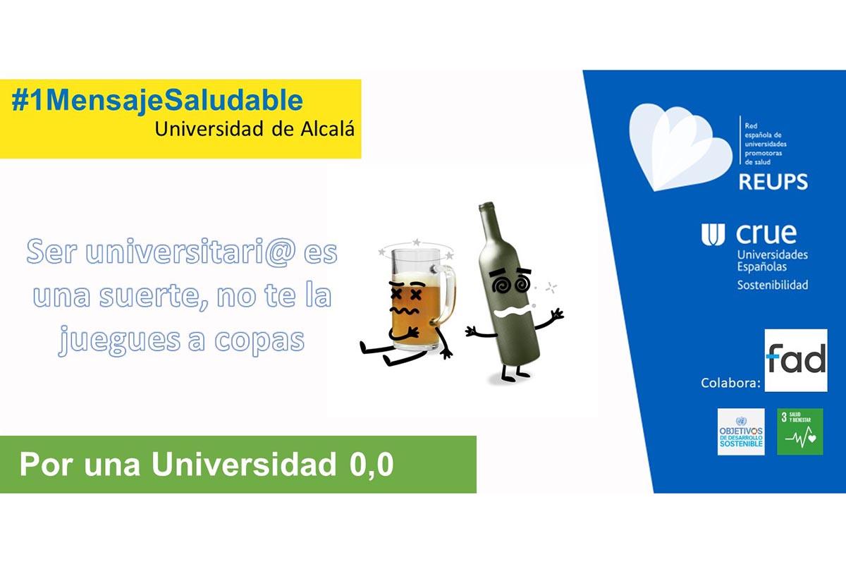 La iniciativa forma parte de la campaña #1MensajeSaludable que cada mes marca un objetivo para mejorar la salud de los universitarios