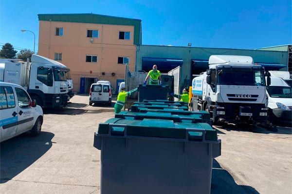 Pozuelo dona ocho contenedores de gran capacidad al hospital de campaña de Leganés
