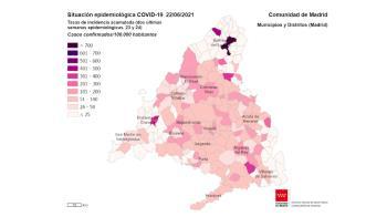 Según el último informe epidemiológico de la Comunidad de Madrid, el municipio se sitúa entre los que tienen peores cifras de Covid-19