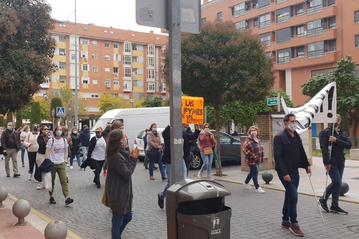 El partido se ha unido a las protestas contra la gestión del Ayuntamiento