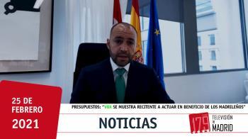 """Manuel Giménez señala la reticencia del partido """"a actuar en beneficio de los madrileños [...] y a entender la importancia de tener presupuestos"""""""