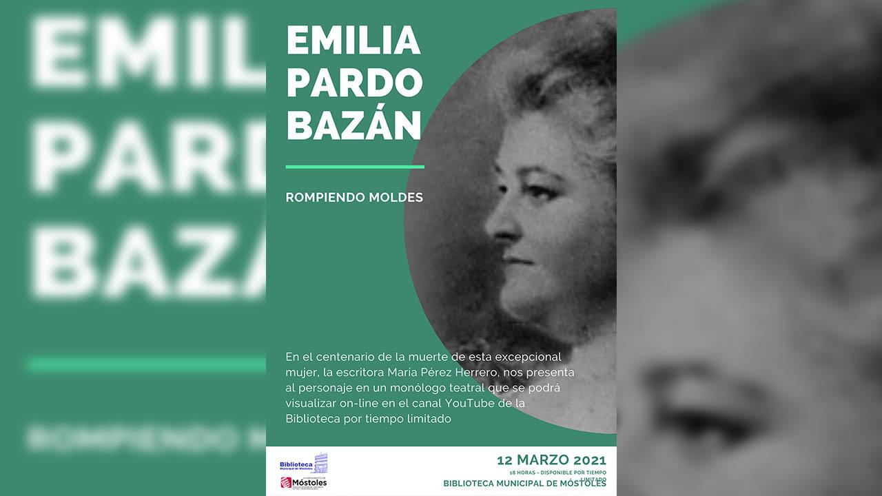 Se interpretará el monólogo teatralizado 'Emilia Pardo Bazán: rompiendo moldes'