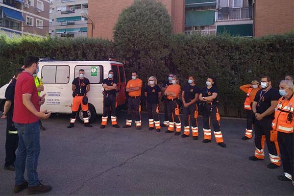 Protección Civil de Móstoles se instruye para ayudar en incendios forestales