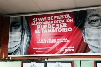 La Comunidad de Madrid y el Ayuntamiento continúan con su campaña para concienciar a los jóvenes contra el coronavirus