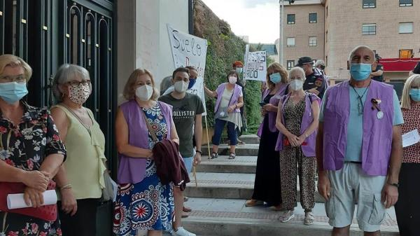 Denuncian que el Gobierno municipal silenció su protesta pacífica, enviando a la policía para impedirles el paso