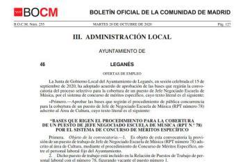 La oferta, anunciada en el BOCM desde el martes 20 de octubre, permitirá reforzar la plantilla