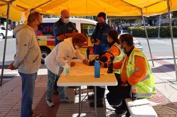 Protección civil ha instalado tres carpas en Ciudad Lineal, Villaverde y Usera