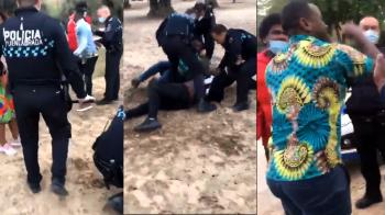 ¡El vídeo que circula en redes y algunos medios tendenciosos en el que policía detiene a un grupo de personas usando la fuerza enciende las redes a la voz de Fuenla racistas!