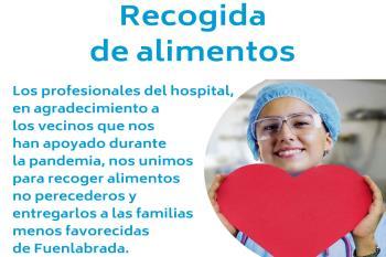 Los profesionales del hospital han lanzado esta iniciativa en colaboración con la Red Solidaria de Fuenlabrada