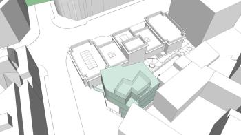 La ampliación consistirá en la construcción de un nuevo edificio de 608 m2 divididos en cuatro plantas