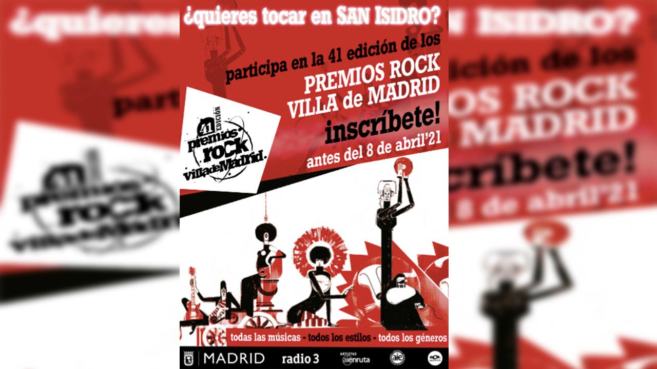 Apúntate a la 41º Edición de los Premios Rock Villa de Madrid