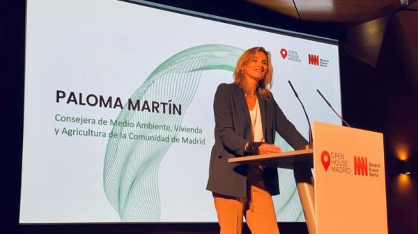 Así lo ha anunciado hoy la consejera de Medio Ambiente, Vivienda y Agricultura, Paloma Martín, en la inauguración del festival Open House Madrid.