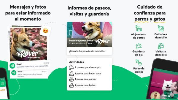 La aplicación une a amantes de los animales que ofrecen desde alojamiento hasta paseadores