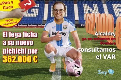 Lee toda la noticia 'Santiago Llorente el último fichaje del CD Leganés: subvenciona con 362.000 euros al club '