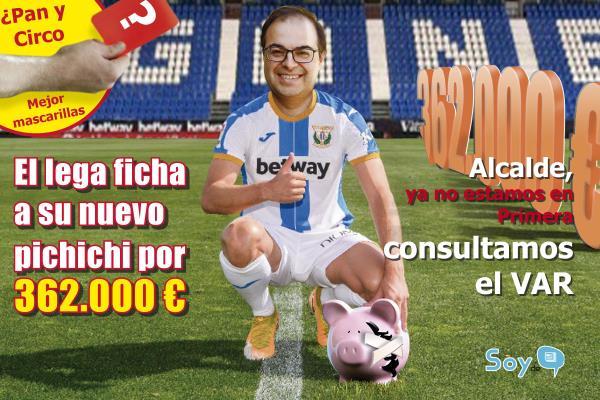 Santiago Llorente el último fichaje del CD Leganés: subvenciona con 362.000 euros al club