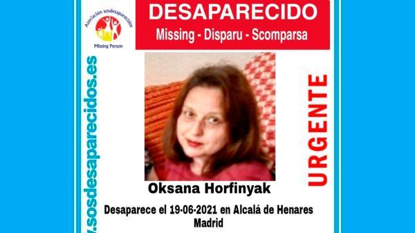 No se sabe nada de Oksana desde el 19 de junio de 2021