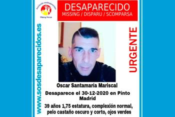 Oscar Santamaría lleva desparecido desde el pasado 30 de diciembre de 2020
