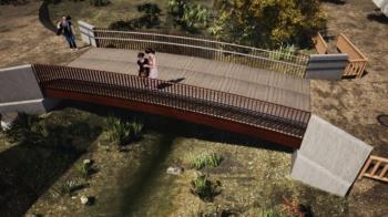 Contará con 9,80 metros de vano libre y 4 metros de anchura, con embocaduras de acceso a cada lado que llegan a los 6 metros de ancho