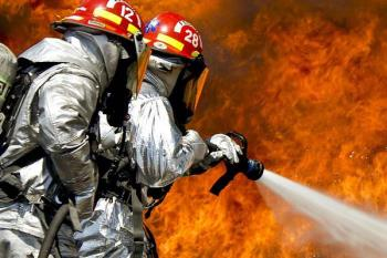 Para extinguir el fuego fueron necesarias dos dotaciones de bomberos