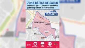Siguen las restricciones sobre Getafe Norte, mientras que Las Ciudades sale del confinamiento perimetral el lunes