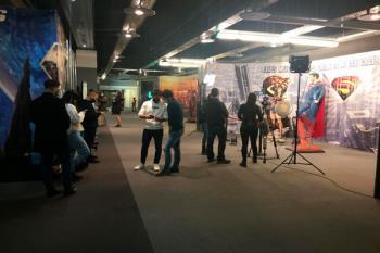 Se rueda un videoclip en la exposición de SuperHeroes de Majadahonda