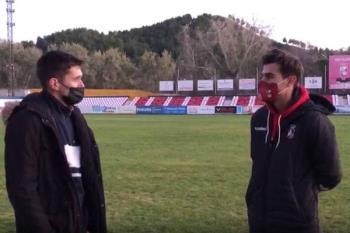 El jugador de la RSD Alcalá, Sergio Nanclares, atendió a Soy de Alcalá tras la victoria por dos a cero del equipo alcalaíno ante el Complutense en el Val