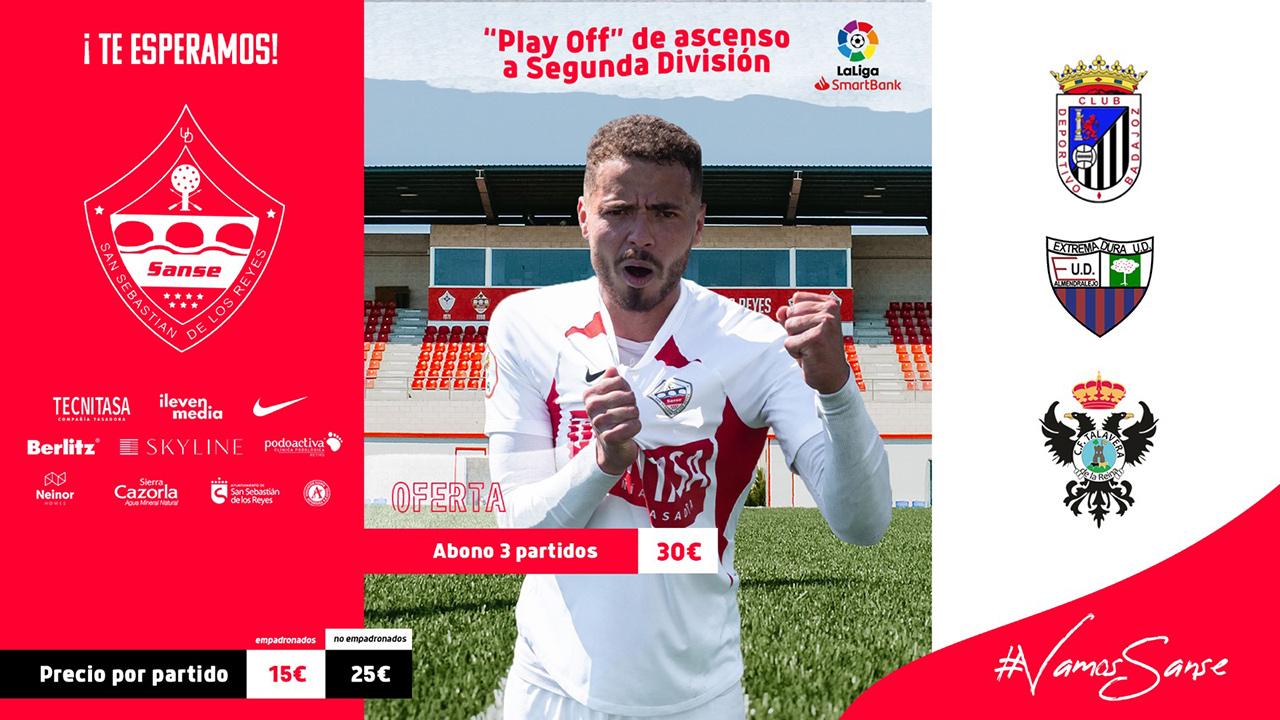 Podrán ver los tres partidos, contra el CD Badajoz, el Extremadura UD y el CF Talavera de la Reina, comprando el bono por 30€