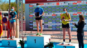 La joven se ha llevado un nuevo oro, esta vez en el Critérium Nacional de Marcha