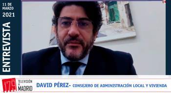 El 'número 2' de la Comunidad de Madrid, David Pérez, defiende la convocatoria de elecciones para evitar la moción de censura