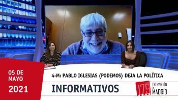 El portavoz de Unidas Podemos en Fuenlabrada, Pedro Vigil, habla de la marcha de la política del líder la formación morada