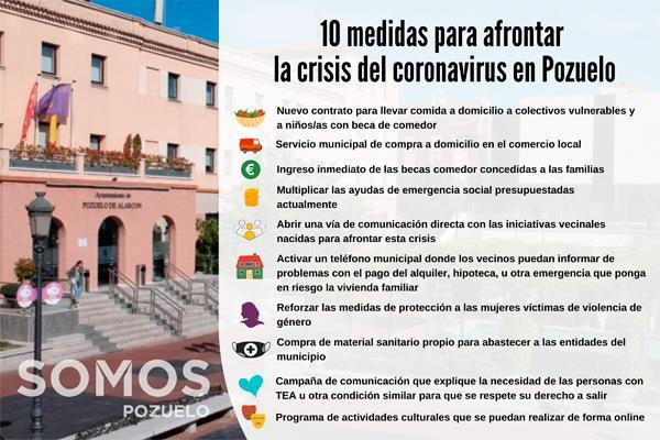 Somos Pozuelo propone diez medidas para superar el coronavirus