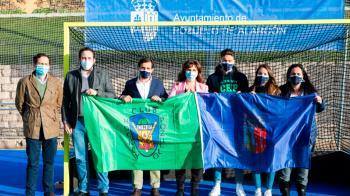 La alcaldesa de Pozuelo ha realizado un acto junto al presidente del equipo
