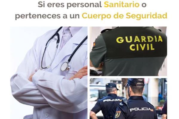 Talleres Clemente desinfecta gratis con ozono los vehículos del personal Sanitario, Policía o Guardia Civil