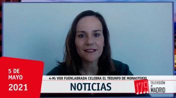 La portavoz de Vox en Fuenlabrada, Isabel Pérez, valora los resultados electorales