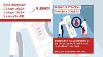 La Cruz Roja del municipio ofrecerá test de detección rápida de manera anónima y gratuita durante Mayo y junio
