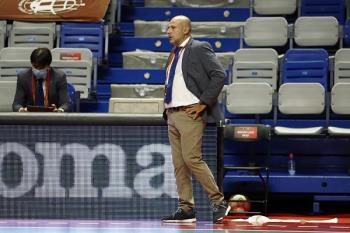 El entrenador del Movistar Inter , en su primera temporada, afronta las semifinales del playoff tras vencer el pasado martes a Jaén Paraíso Interior