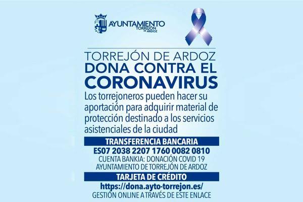 'Torrejón de Ardoz dona contra el coronavirus' canaliza la solidaridad de los vecinos