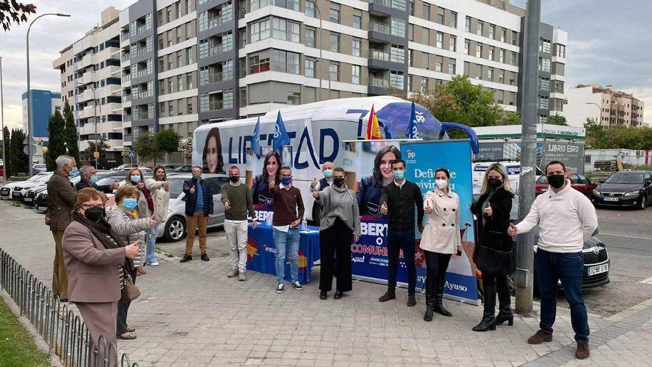 El municipio se ha volcado en la campaña electoral de la presidenta de la Comunidad de Madrid